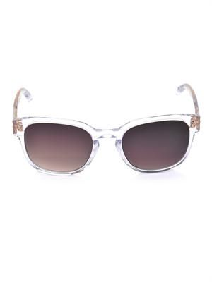 Clear acetate square sunglasses