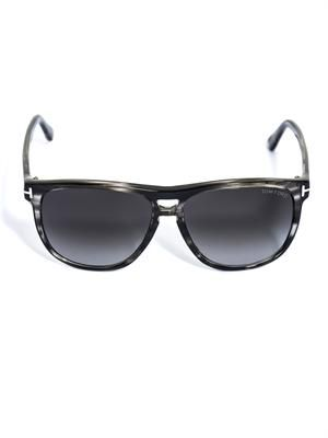 Lenon stripe acetate sunglasses
