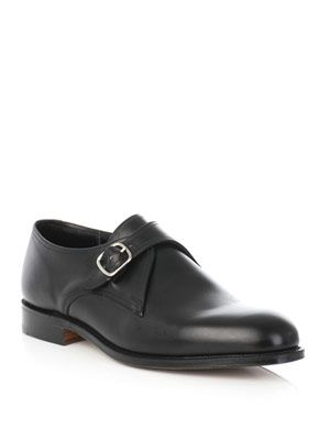 Bank monk-strap shoes