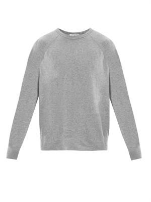 Heathered cotton sweat top