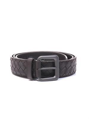 Intrecciato leather 3.5cm belt