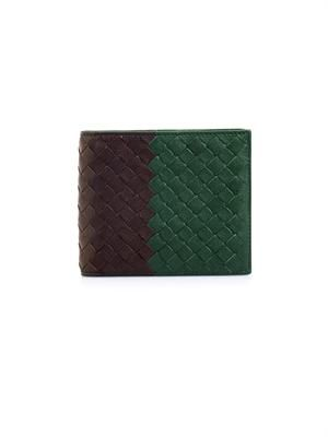 Intrecciato Club Fumé leather wallet