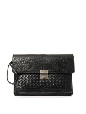 Crocodile mini document holder