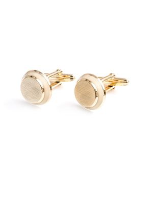 Gold and ivory disc cufflinks