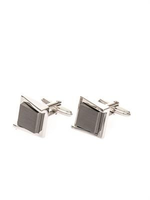 Rhodium-plated cufflinks