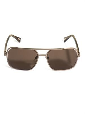 Square metal framed sunglasses