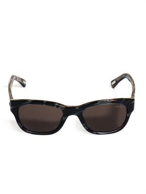 Tortoiseshell square-framed sunglasses