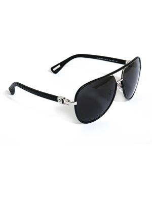 Leather framed aviator sunglasses