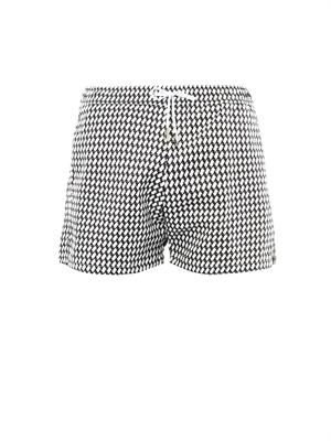Shark's tooth-print swim shorts