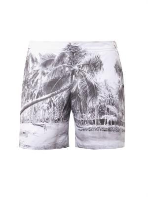 Bulldog Palm Perfect-print swim shorts