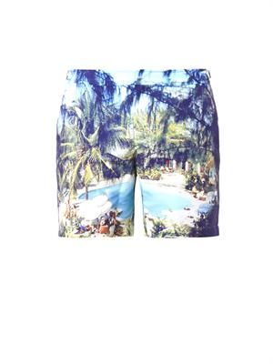 Bulldog Pine Coolada-print swim shorts