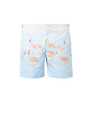 Bulldog Flamingo-print swim shorts