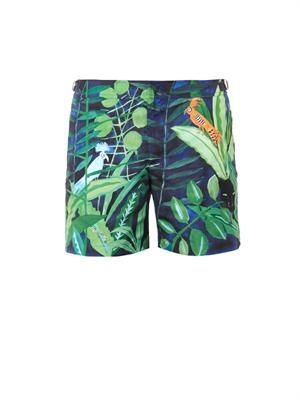 Bulldog Lurking Leopard-print swim shorts