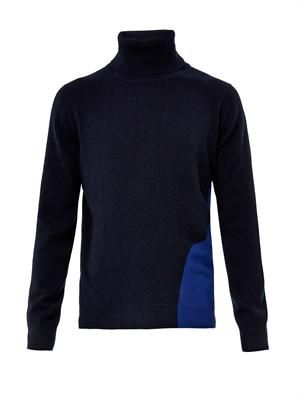 Bi-colour cashmere sweater