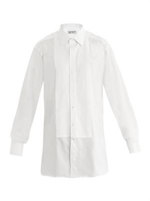 Pleated bib front shirt