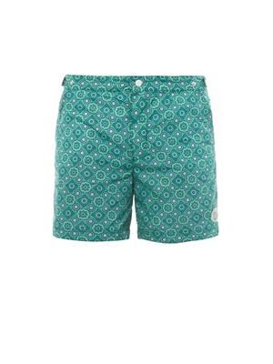 Oxford long printed swim shorts