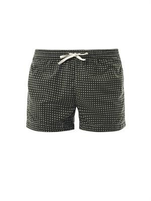 Cross-print swim shorts