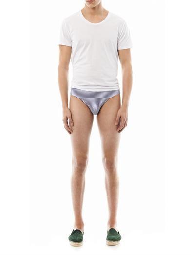 Dan Ward Striped swim briefs