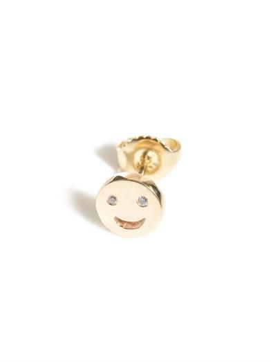 Alison Lou Diamond and gold face stud earring