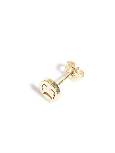 Alison Lou Yellow-gold sad face stud earring