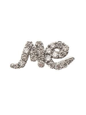 Diamond & gold single 'Me' earring