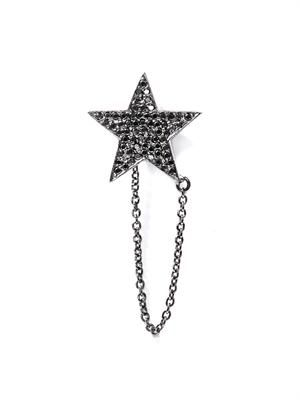 Diamond & rhodium Star earring