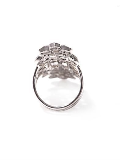 Nikos Koulis Diamond & white gold cut-out ring
