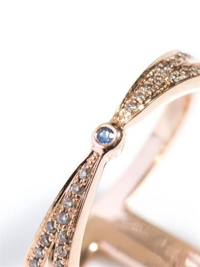 Noor Fares Champagne diamond & gold rhombus ring