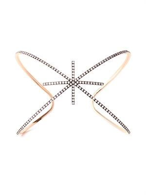 Diamond & rose-gold starburst cuff