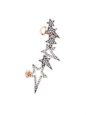 Diamond and rose-gold star ear cuff