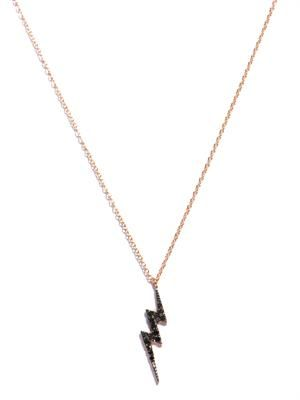 Diamond and gold lightning bolt necklace