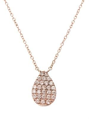 Diamond & rose-gold teardrop necklace