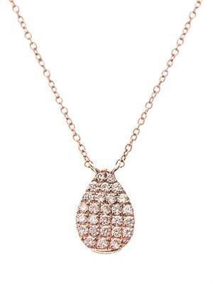 Diamond & rose-gold teardrop necklace