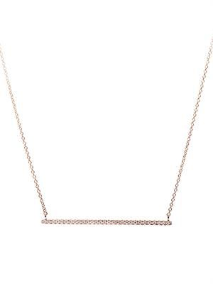 Diamond & rose-gold bar necklace