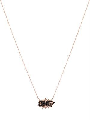 Diamond & rose-gold OMG! necklace