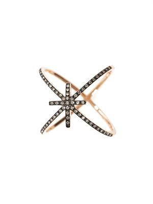 Diamond & gold starburst ring