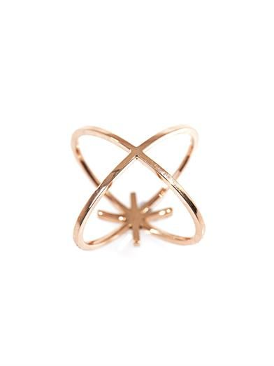 Diane Kordas Diamond & gold starburst ring
