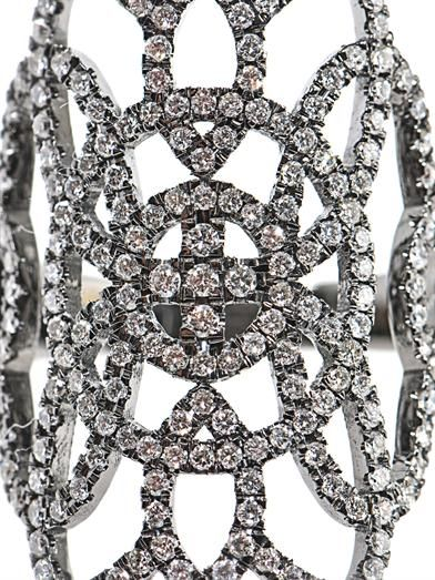 Diane Kordas Diamond & gold Arabesque ring