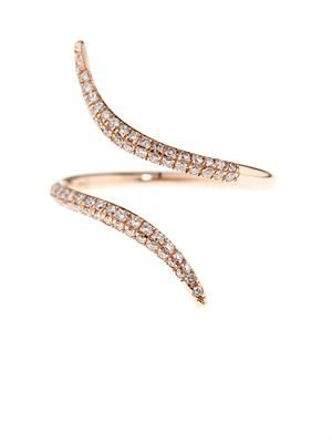 Diamond & rose-gold wrap ring