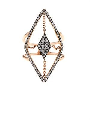 Diamond & rose-gold floating ring