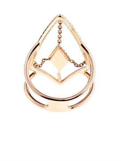 Diane Kordas Diamond & rose-gold floating ring