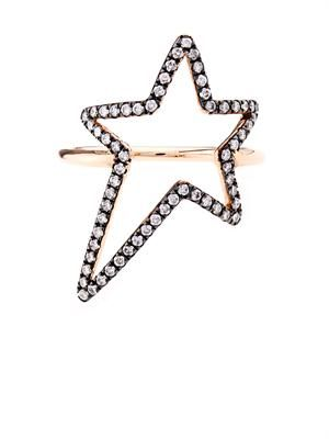 Diamond & rose-gold star ring