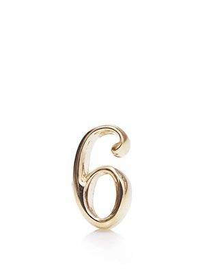 Yellow gold #6 earring