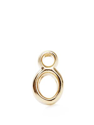 Yellow gold #8 earring