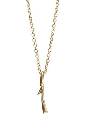 Diamond and yellow gold #1 necklace