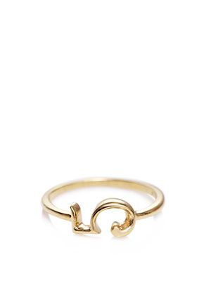 Yellow gold #5 ring