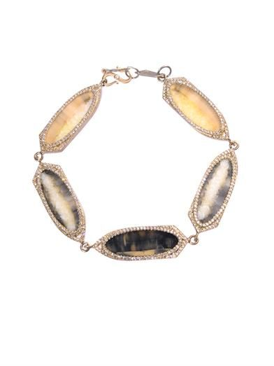 Monique Péan Diamond, fossilised walrus & gold bracelet