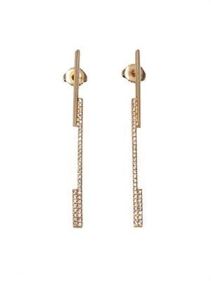 White-diamond & gold earrings