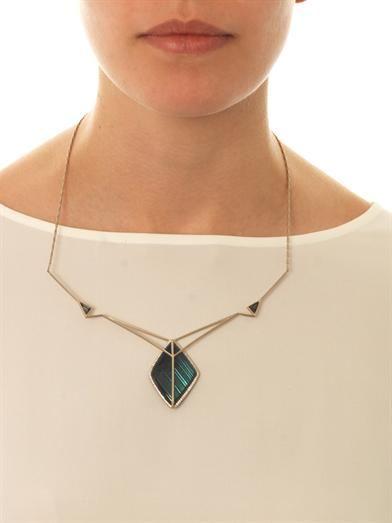 Monique Péan Diamond & fossilised mammoth necklace