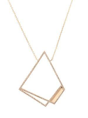 Diamond & fossilised mammoth necklace